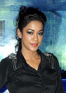 Mumaith Khan at the first look launch of 'Fattu Saala'.jpg