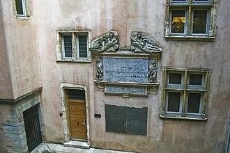 Musée de l'Imprimerie - The courtyard of the museum