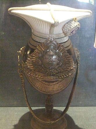 Lincolnshire Yeomanry - Full dress Czapka, Lincolnshire Imperial Yeomanry, Museum of Lincolnshire Life, Lincoln, England