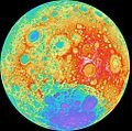 NASA's LRO Camera Team Releases High Resolution Global Topographic Map of Moon (6353311665).jpg