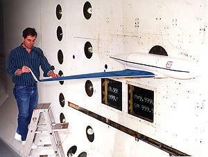 Wingtip device - Gulfstream V model winglet flutter tests at NASA Langley transonic wind tunnel