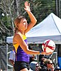NCAA beach volleyball match at FSU (15072420977).jpg