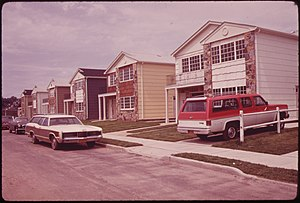 Grant City, Staten Island - New housing in Grant City, 1973.  Photo by Arthur Tress.