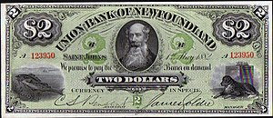 Newfoundland dollar - Union Bank $2 note