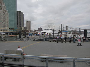 NY Waterway Ferry loading passengers at the Pier 11.jpg
