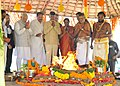Narendra Modi performing the Pooja rituals at the foundation stone laying ceremony of 'Amaravathi'- the new capital of Andhra Pradesh. The Union Minister for Urban Development (1).jpg