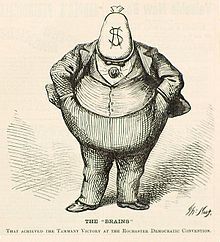 Boss Tweed Depicted By Thomas Nast In A Wood Engraving Published Harpers Weekly October 21 1871
