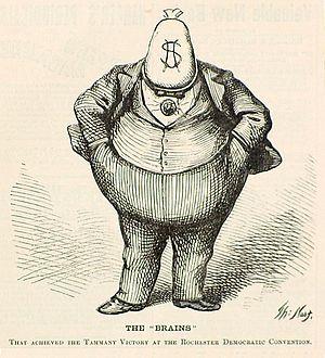 William M. Tweed - Thomas Nast depicts Tweed in Harper's Weekly (October 21, 1871)