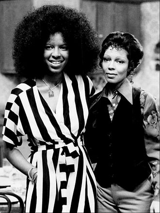 Natalie Cole - Natalie and Carole Cole at NBC studios, 1975