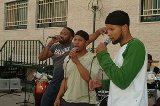 Native Deen - Performing at a school in Ramallah, 2007