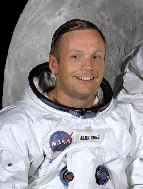 Neil Armstrong in suit