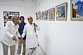 Nemai Ghosh Accompanied By Biswatosh Sengupta Visiting 1st Four Ps Group Exhibition - Kolkata 2019-04-17 5256.JPG
