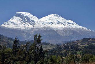 Huascarán - Huascarán as viewed from Callejón de Huaylas