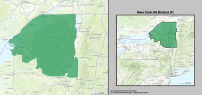 New York 's 21st congressional district - since January 3, 2013.