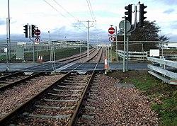New tram line at Edinburgh Airport (geograph 3287935).jpg