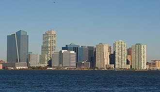 Newport, Jersey City - View of Newport from the Hudson River