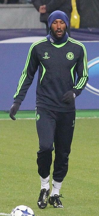 Nicolas Anelka - Anelka warming up for Chelsea
