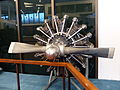 Nine Cylinders Radial Engine in Flight Technology Area, 1st Floor of Aviation Museum 20131231.jpg
