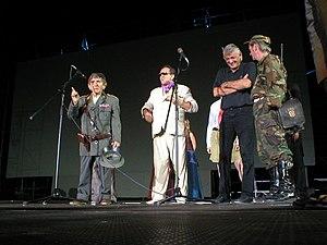 Nightmare Stage - Ševa, CroRom, Malnar and Stankec Nightmare Stage members on stage in 2003.