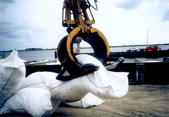 Nonwoven fabric - Image: Nonwoven geotextile containers