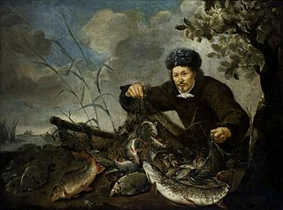 Fisherman with his catch.