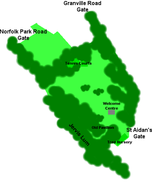 Norfolk Heritage Park - Plan of Norfolk Park.