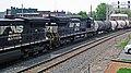 Norfolk Southern Railway - 9357 & 8379 diesel locomotives (Marion, Ohio, USA) 2 (42503980364).jpg