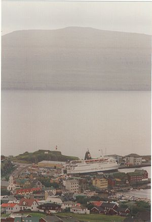 MV Logos Hope - The same ship as MV Norröna in the harbour of Torshavn in 1997
