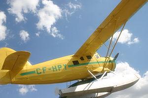 """Robert B.C. Noorduyn - Noorduyn Norseman """"CF-HBY"""" on display at the Alberta Aviation Museum, Edmonton, Alberta"""