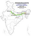 North East Express (Guwahati - Delhi) Express Route map.jpg