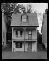 Northwest elevation of No. 204. - Captain's Houses, 200-212 Corsica Street, Centreville, Queen Anne's County, MD HABS MD-1409-3.tif