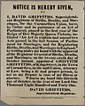 Notice is Hereby Give that I David Griffiths 1841.jpg