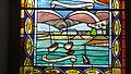 Notre Dame de Placemanec à Groix - Vitrail des trois ports de l'île de Groix, Port de Locmaria.JPG