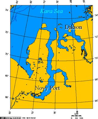 Novy Port - Novy Port and Dikson -- Russian Arctic ports on the Kara Sea.