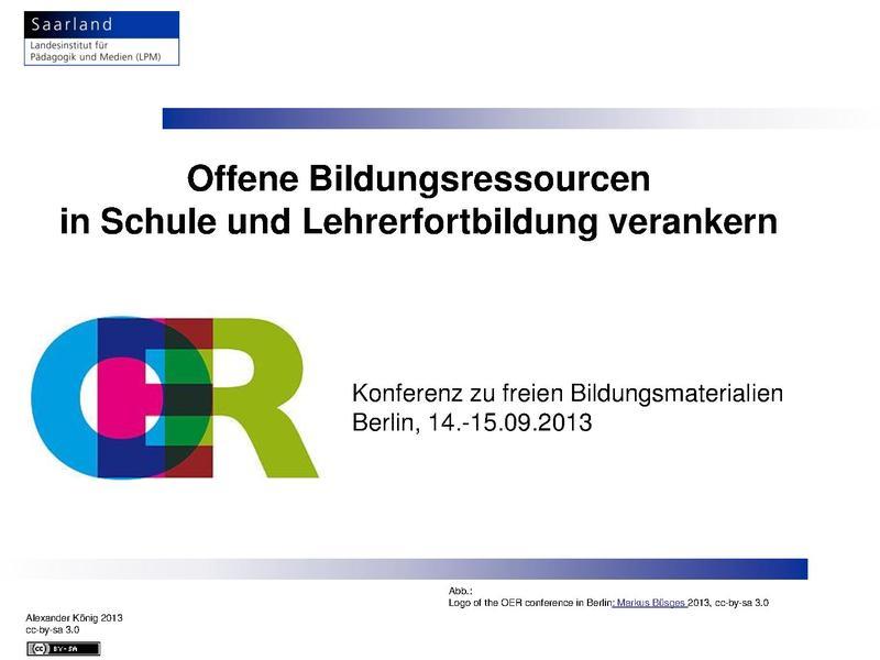File:OER-Konferenz - Workshop Koenig OER in Schule und Lehrerfortbildung verankern 2013.pdf