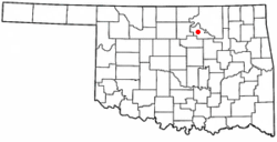 Location of Pawnee, Oklahoma