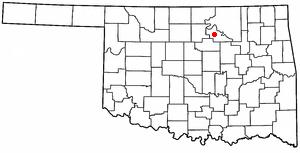 Pawnee Bill Ranch - Image: OK Map doton Pawnee