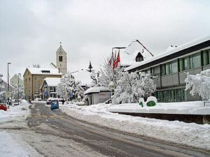Oberwil, Basel-Landschaft - Image: Oberwilbeischnee