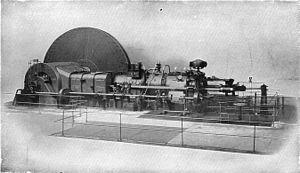 Opposed-piston engine - Image: Oechelhauser engine, Beardmore, Glasgow (Rankin Kennedy, Modern Engines, Vol III)