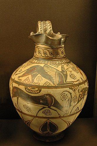 Oenochoe - A trefoil oenochoe, wild-goat style, C. 625 BCE–600 BCE, in the Louvre