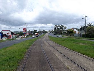 Old Cleveland Road Tramway Tracks - Tracks in 2015