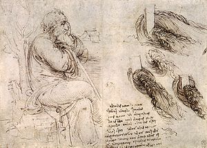 1513 in art - Image: Old Man with Water Studies