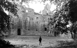 Tulliallan - Photograph looking at south-facing wall. Origin unknown but taken c.1950s.