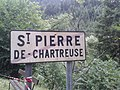 Old exit sign of Saint-Pierre de Chartreuse.jpg