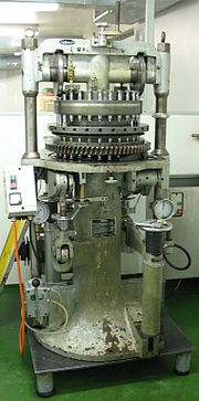 An old Cadmach rotary tablet press