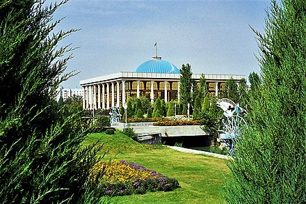 The Legislative Chamber of the Supreme Assembly (Lower House). Oliy Majlis (Parliament of Uzbekistan).jpg