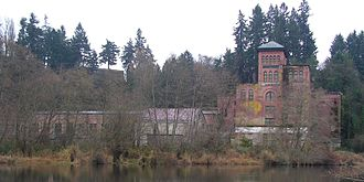 History of Olympia, Washington - The Olympia Brewery sitting on Capitol Lake in Tumwater.