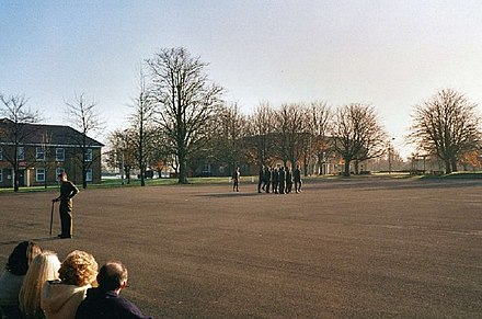 A passing-out parade at Bassingbourn army camp - RAF Bassingbourn