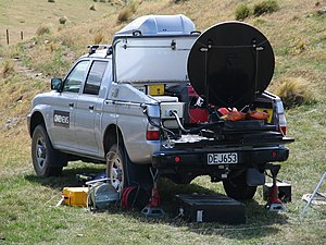 Satellite dish - A mobile satellite dish used by TVNZ news reporters.