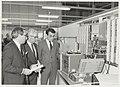 Opening van Gould Electronics door Mr. I. de Jong, dir. Industrie van het Ministerie van Economische Zaken (m) met directeur Whelton (l) en burgemeester IJsselmuiden (r). Haarlemmerstraatweg 113.JPG